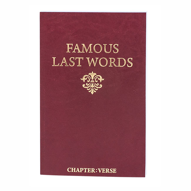 FAMOUS LAST WORDS IN THE BIBLE, paperback book