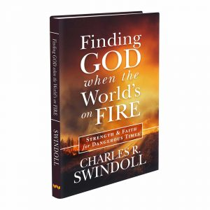 FINDING GOD WHEN THE WORLD IS ON FIRE, hardback book