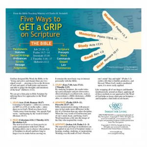 FIVE WAYS TO GET A GRIP ON SCRIPTURE, Bookmark
