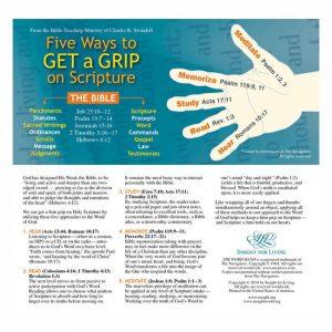 FIVE WAYS TO GET A GRIP ON SCRIPTURE, Bookmark