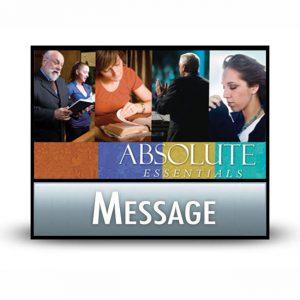 Absolute Essentials message