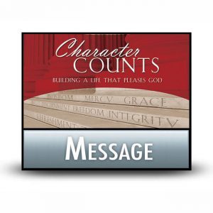 Character Counts messages