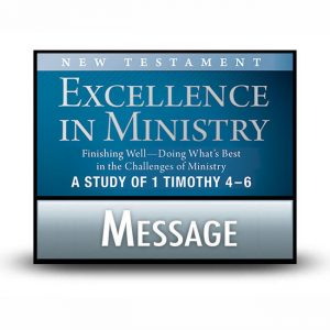 Excellence in Ministry: Finishing Well message