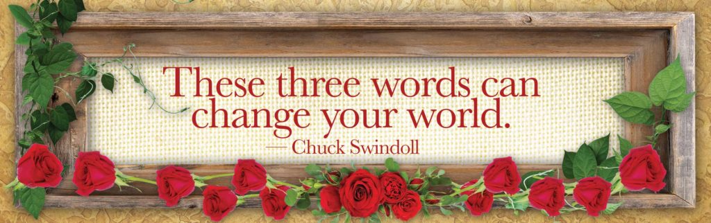 These three words can change your world.