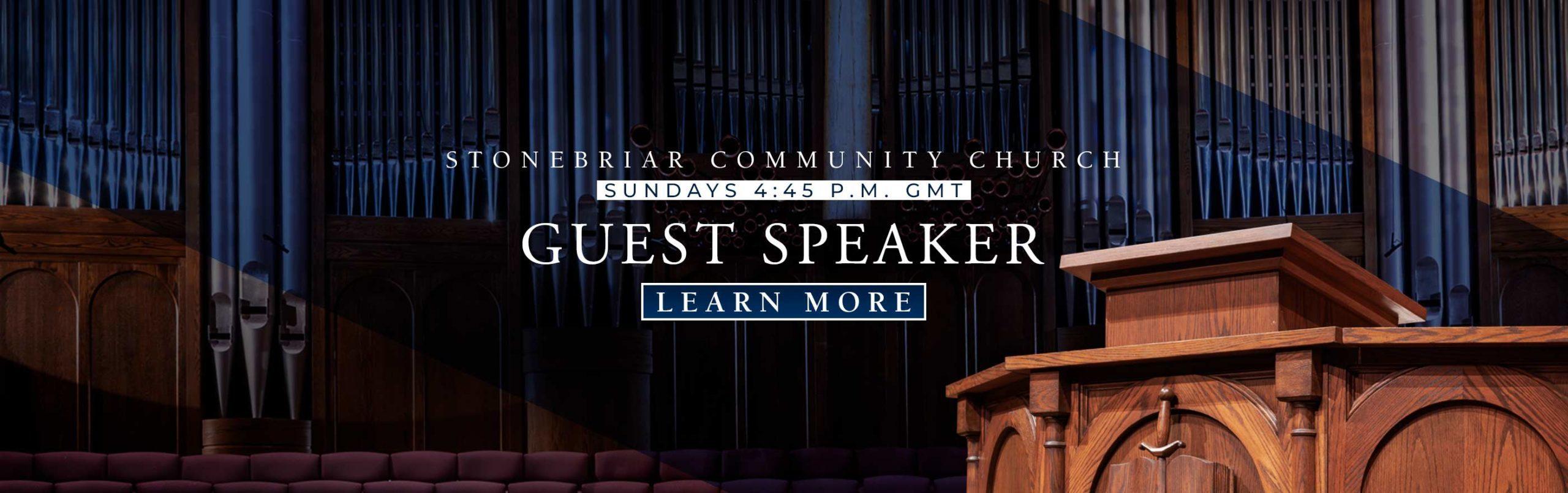 Stonebriar Guest Speaker