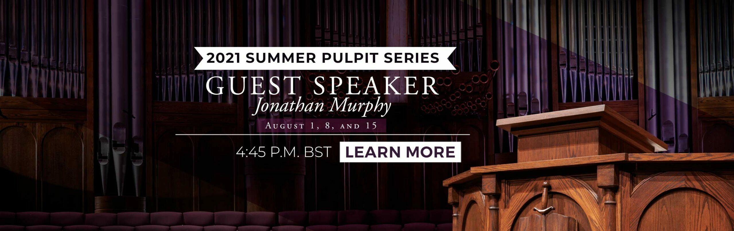 Guest Speaker: Jonathan Murphy